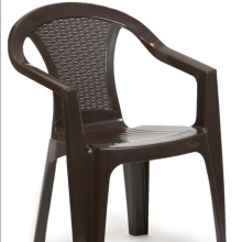 SILLA EN SIMIL RATTAN COLOR CHOCOLATE